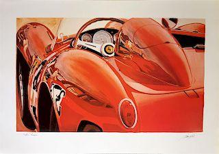Ferrari 250 Testa Rossa print by Alain Mirgalet, France (1980's)