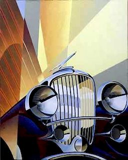 Duesenberg Model J, giclee on paper by Alain Levesque, Canada, 2011