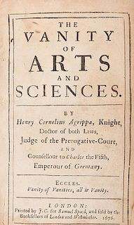 Agrippa, Henry Cornelius. The Vanity of Arts and Sciences.