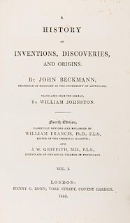 [Invention] Beckman, John. A History of Inventions, Discoveries, and Origins