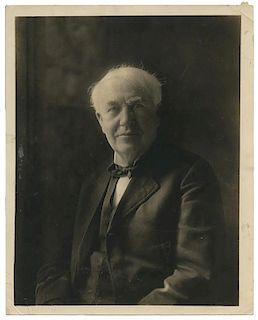 [Invention] Edison, Thomas. Photograph of Edison.