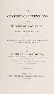 [Invention] Partington, Charles. The Century of Inventions of the Marquis of Worcester.