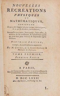 [Mathematics] Guyot, Edme-Gilles. Nouvelles Recreations Physiques et Mathematiques.