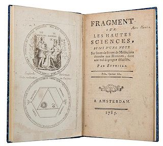 Alliette [Etteilla]. Fragment sur les hautes sciences.