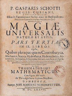 [Magic] Schott, Gaspar. Magiae universalis naturalis et artis.