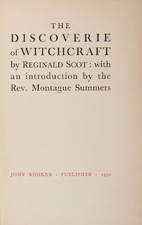 [Witchcraft] Summer, Montague (trans.) The Discoverie of Witchcraft.