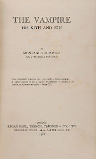 Summers, Montague. Two Volumes on Supernatural Subjects.