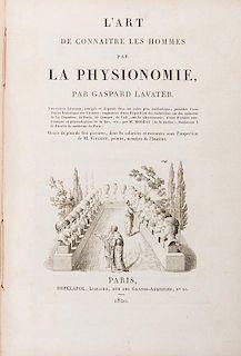Lavater, Jean-Gaspard. L'Art de connaitre les hommes par la physionomie.