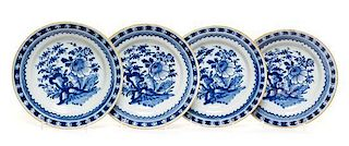 A Set of Four Delft Plates Diameter 9 inches.