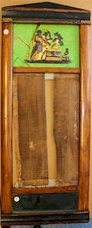 A Biedermeier Parcel Ebonized Walnut Pier Mirror. Height 44 3/4 x width 18 1/4 inches.