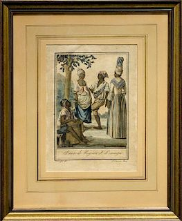* A Framed Bookplate Engraving Framed: 13 x 10 1/2 inches.