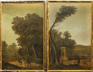 * Artist Unknown, (18th/19th century), Landscapes (a pair of works)