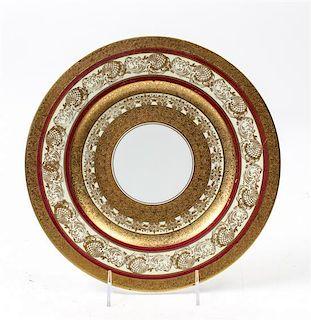 * Twelve Hutschenreuther Porcelain Service Plates Diameter 10 3/4 inches.