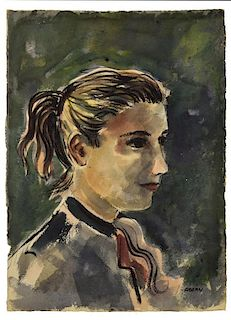 MICHAEL FRARY (1918-2005), PORTRAIT, YOUNG WOMAN