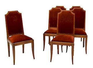 (6) FRENCH ART DECO DINING CHAIRS C. 1930
