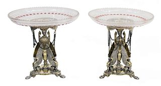 (2) EGYPTIAN REVIVAL ELKINGTON SILVERPLATE TAZZAS