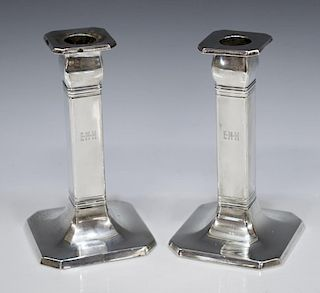 (2) TIFFANY & COMPANY STERLING SILVER CANDLESTICKS