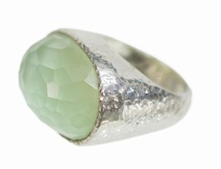 IPPOLITA HAMMERED STERLING FACETED GEMSTONE RING