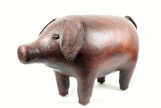 OMERSA LEATHER PIG FOOTSTOOL