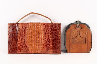 (2) LEATHER BAGS