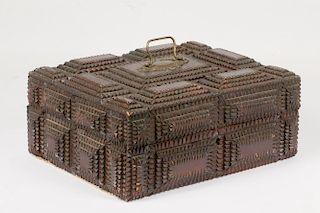 TRAMP ART TRINKET BOX