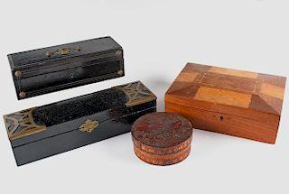 (4) ANTIQUE BOXES