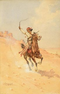 HERMAN W. HANSEN (1854-1924), The Renegade, Apache Indian