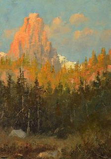 JOHN FERY (1859-1934), Mountain Landscape; Northern Idaho; Mission