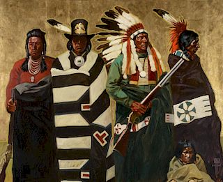 MICHAEL CASSIDY (b. 1958), The Four Chiefs (2017)