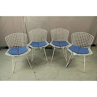 Four Harry Bertoia (1915-1978) Knoll Wire Chairs