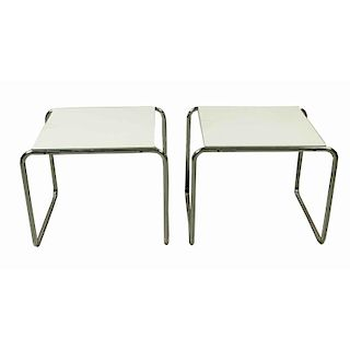 """Two Breuer / Gavina """"Laccio"""" Side Tables"""