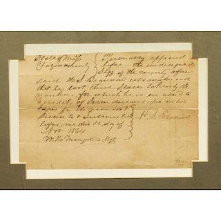 1864 Yazoo County, Mississippi Slave Credit