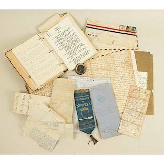 Box of Assorted 19th Century Curtis Family Ephemera