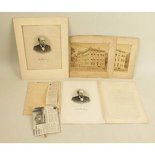 George McCrary Archive Comprising Two Bell Photos of the Old War Department Building and an 1898 Printed Biography