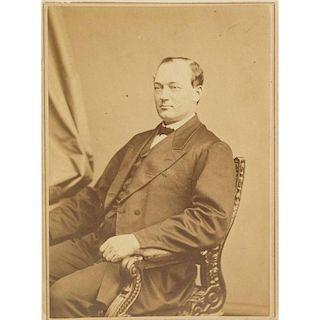 U.S. Congressman George W. McCrary, Imperial Carte De Visite, Brady Studios