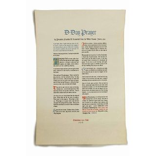 Franklin D. Roosevelt (1882-1945) D-Day Prayer, 1944