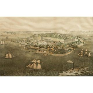 Fort Monroe, Old Point Comfort and Hygeia Hotel, Va. Print