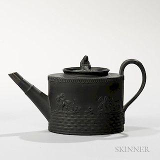 E. Mayer Black Basalt Teapot and Cover