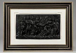 Wedgwood Black Basalt Death of a Roman Warrior