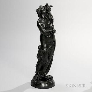 Wedgwood Black Basalt Figure of Eros and Euphrosyne