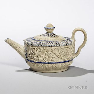 Staffordshire Caneware Teapot and Cover