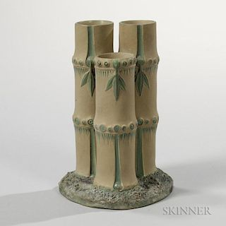 Wedgwood Caneware Three-spout Flower Holder