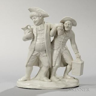 Turner Stoneware Parson and Clerk Group