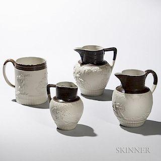 Four Turner Stoneware Items