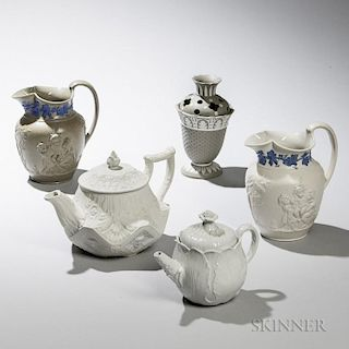 Five Wedgwood and Related Dry Body Items
