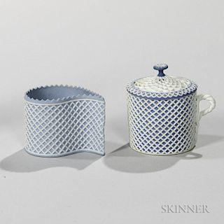 Two Wedgwood Jasper Custard Cups