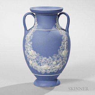 Wedgwood Light Blue Jasper Dip Freestyle Vase
