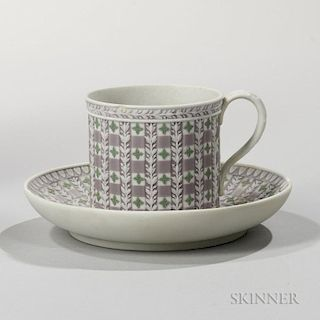 Wedgwood Tricolor Diceware Jasper Dip Coffee Can and Saucer