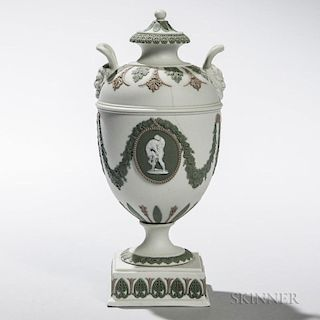 Wedgwood Tricolor Jasper Vase and Cover