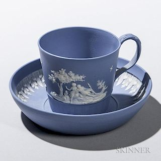 Turner Solid Blue Jasper Cup and Saucer